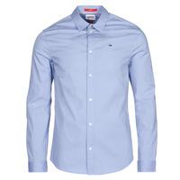 Textil Muži Košile s dlouhymi rukávy Tommy Jeans TJM ORIGINAL STRETCH SHIRT Modrá