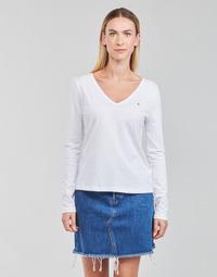 Textil Ženy Trička s dlouhými rukávy Tommy Hilfiger REGULAR CLASSIC V-NK TOP LS Bílá
