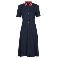 Textil Ženy Krátké šaty Tommy Hilfiger PIQUE F&F MIDI POLO DRESS SS Tmavě modrá