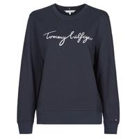 Textil Ženy Mikiny Tommy Hilfiger REGULAR GRAPHIC C-NK SWEATSHIRT Tmavě modrá