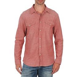 Textil Muži Košile s dlouhymi rukávy Selected Doha shirt ls r J Červená