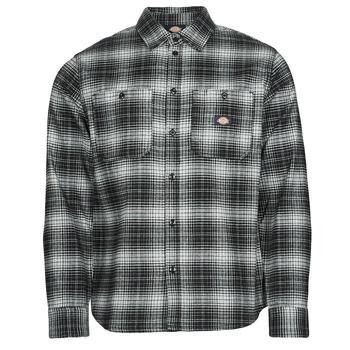 Textil Muži Košile s dlouhymi rukávy Dickies EVANSVILLE LS Černá