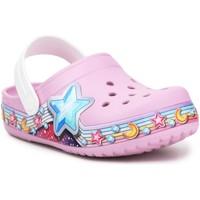 Boty Dívčí Pantofle Crocs FL Star Band Clog 207075-6GD purple