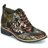 Boty Ženy Kotníkové boty Laura Vita COCRALIEO Černá / Zelená / Růžová