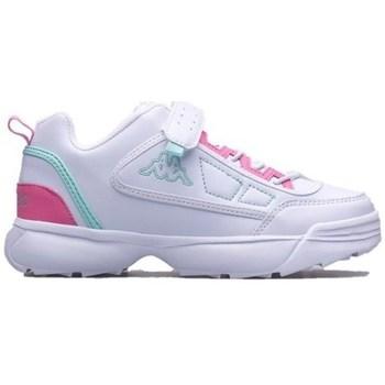 Boty Děti Nízké tenisky Kappa Rave MF K Bílé, Růžové
