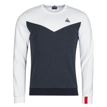 Textil Muži Mikiny Le Coq Sportif SAISON 1 CREW SWEAT N 1 Tmavě modrá / Bílá