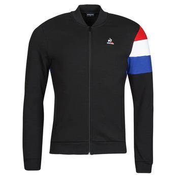 Textil Muži Teplákové bundy Le Coq Sportif TRI FZ SWEAT N 1 M Černá