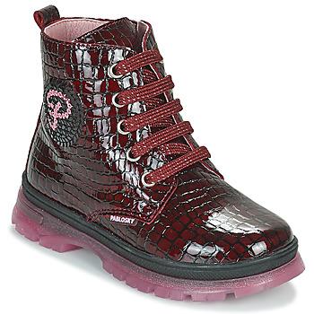 Boty Dívčí Kotníkové boty Pablosky 404167 Bordó