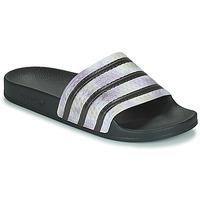 Boty Ženy pantofle adidas Originals ADILETTE Černá / Stříbřitá