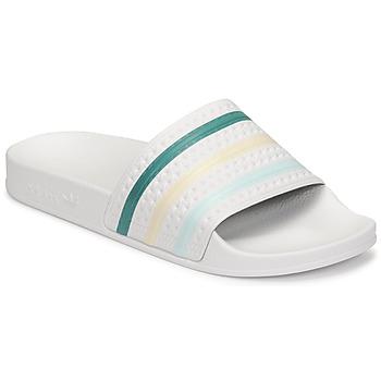Boty Ženy pantofle adidas Originals ADILETTE Bílá / Zelená / Růžová