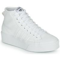 Boty Ženy Kotníkové tenisky adidas Originals NIZZA PLATFORM MID Bílá