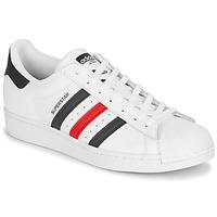 Boty Nízké tenisky adidas Originals SUPERSTAR Bílá / Modrá / Červená