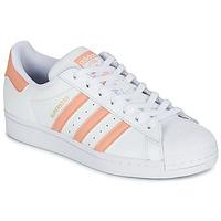 Boty Ženy Nízké tenisky adidas Originals SUPERSTAR Bílá / Růžová
