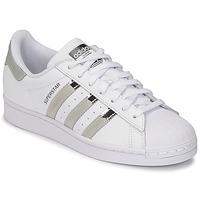 Boty Ženy Nízké tenisky adidas Originals SUPERSTAR W Bílá / Stříbřitá