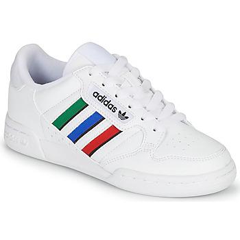 Boty Děti Nízké tenisky adidas Originals CONTINENTAL 80 STRI J Bílá / Zelená / Modrá