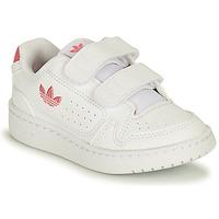 Boty Dívčí Nízké tenisky adidas Originals NY 90 CF I Bílá / Růžová