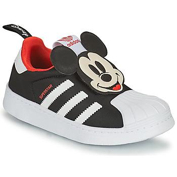 Boty Chlapecké Nízké tenisky adidas Originals SUPERSTAR 360 C Černá