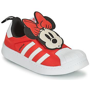 Boty Dívčí Nízké tenisky adidas Originals SUPERSTAR 360 C Červená