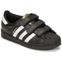 Boty Děti Nízké tenisky adidas Originals SUPERSTAR CF C Černá / Bílá