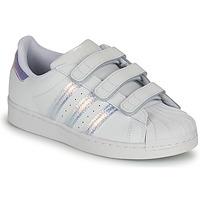 Boty Děti Nízké tenisky adidas Originals SUPERSTAR CF C Bílá / Stříbřitá