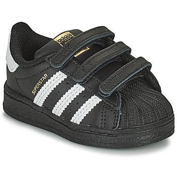 Boty Děti Nízké tenisky adidas Originals SUPERSTAR CF I Černá / Bílá