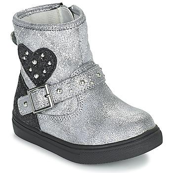 Boty Dívčí Kotníkové boty Primigi BABY LUX Stříbrná