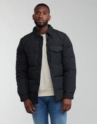 Textil Muži Prošívané bundy Scotch & Soda WATER-REPELLENT SHIRT Černá