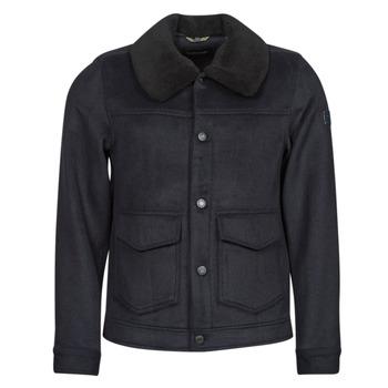 Textil Muži Kabáty Scotch & Soda SHERPA-TRIMMED WOOL Tmavě modrá