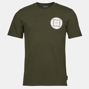 Textil Muži Trička s krátkým rukávem Scotch & Soda GRAPHIC LOGO T-SHIRT Khaki