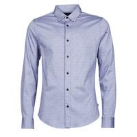 Textil Muži Košile s dlouhymi rukávy Scotch & Soda CLASSIC SLIM FIT KNITTED Modrá