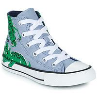 Boty Děti Kotníkové tenisky Converse CHUCK TAYLOR ALL STAR DINO DAZE HI Modrá / Zelená