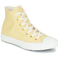 Boty Ženy Kotníkové tenisky Converse CHUCK TAYLOR ALL STAR HYBRID TEXTURE HI Žlutá