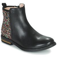 Boty Dívčí Kotníkové boty Acebo's 9917VE-NEGRO-T Černá