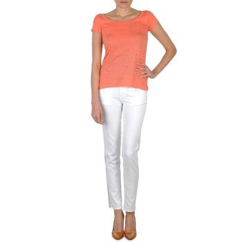 Textil Ženy Rifle slim Calvin Klein Jeans JEAN BLANC BORDURE ARGENTEE Bílá