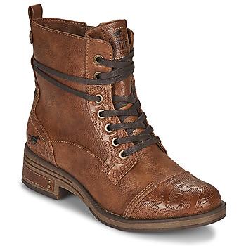 Boty Ženy Kotníkové boty Mustang 1293501 Hnědá