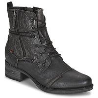Boty Ženy Kotníkové boty Mustang 1229508 Černá