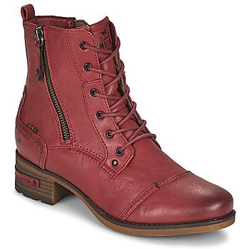 Boty Ženy Kotníkové boty Mustang 1229513 Červená