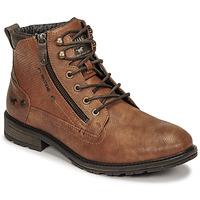 Boty Muži Kotníkové boty Mustang 4140501 Zlatohnědá