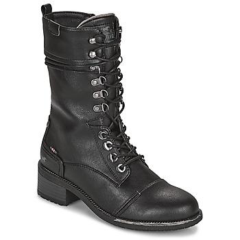 Boty Ženy Kozačky Mustang 1402501 Černá