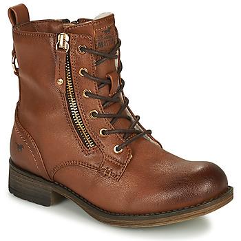 Boty Dívčí Kotníkové boty Mustang 5026-623-308 Hnědá