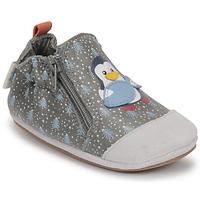 Boty Chlapecké Bačkůrky pro miminka Robeez BLUE PINGUINS Šedá