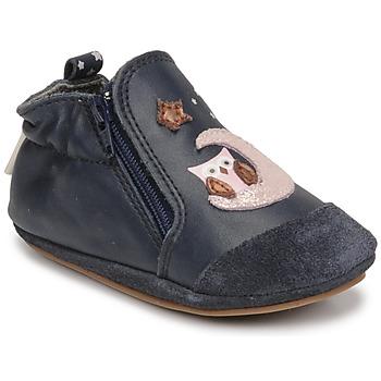 Boty Dívčí Bačkůrky pro miminka Robeez NICE OWL Tmavě modrá