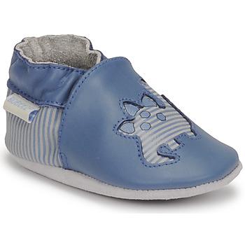 Boty Chlapecké Bačkůrky pro miminka Robeez DIFLYNO Modrá