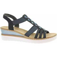 Boty Ženy Sandály Rieker Dámské sandály  V3822-14 blau Modrá