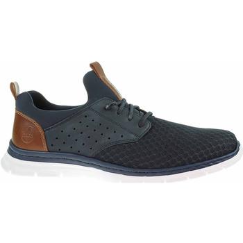 Boty Muži Šněrovací polobotky  & Šněrovací společenská obuv Rieker Pánská obuv  B4867-14 blau Modrá
