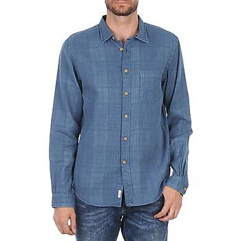 Textil Muži Košile s dlouhymi rukávy Façonnable JJMCT502000ERE Modrá