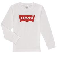 Textil Chlapecké Trička s dlouhými rukávy Levi's L/S BATWING TEE Bílá