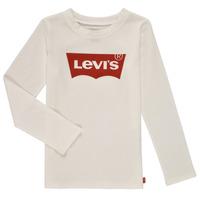 Textil Dívčí Trička s dlouhými rukávy Levi's LS BATWING TEE Bílá