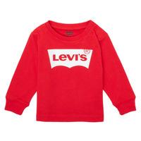 Textil Chlapecké Trička s dlouhými rukávy Levi's L/S BATWING TEE Červená