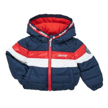 Textil Chlapecké Prošívané bundy Levi's COLORBLOCK JACKET Tmavě modrá / Bílá / Červená